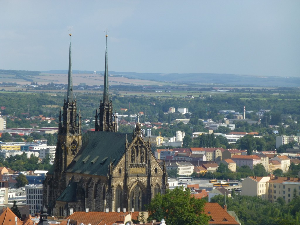 St. Peter and Paul Cathedral from Špilberk Castle.