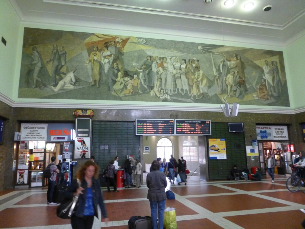 This doesn't look like America and that bothers me (Bratislava's main train station).