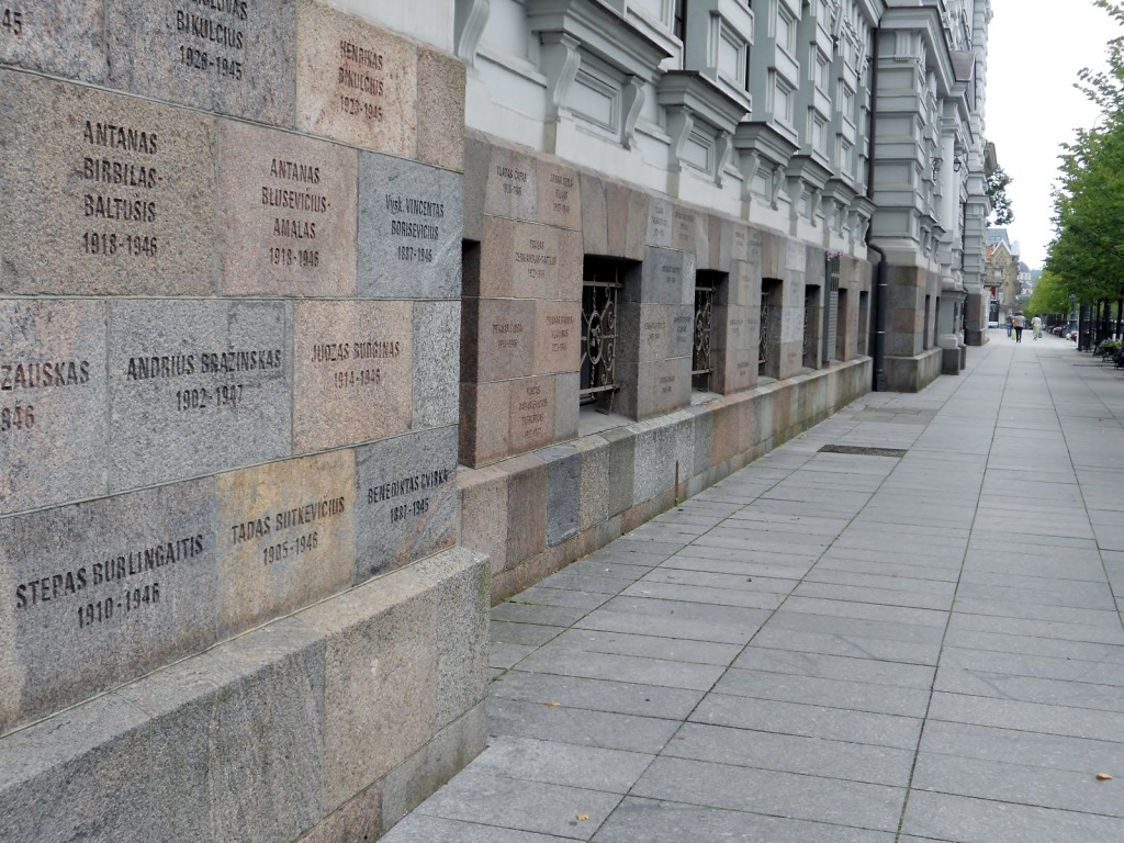 """""""May the names of the Lithuanian patriots, shot to death in this former KGB building, bear witness to duty fulfilled to the motherland, its honour, freedom and independence."""""""